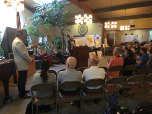Beacon's George Sousou and J.P. Stocco presenting to residents